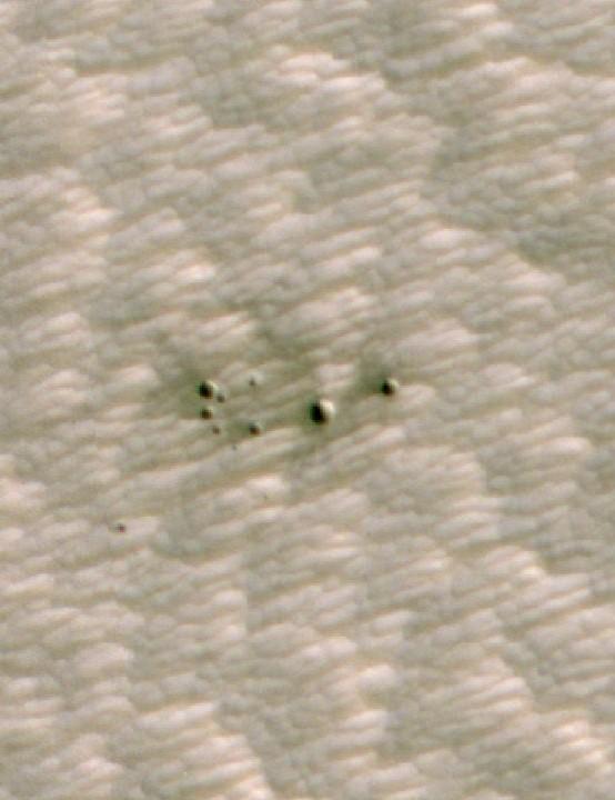 Martian craters found using artificial intelligence MARS RECONNAISSANCE ORBITER, 1 OCTOBER 2020 CREDIT NASA/JPL-Caltech/MSSS