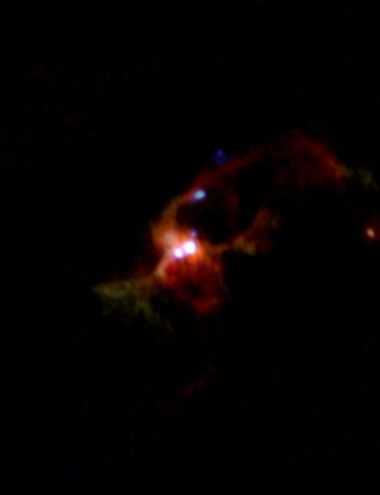 Massive binary protostar IRAS 16547-4247, growing in salty water vapour ATACAMA LARGE MILLIMETER/SUBMILLIMETER ARRAY (ALMA), 25 SEPTEMBER 2020 CREDIT ALMA (ESO/NAOJ/NRAO), Tanaka et al.