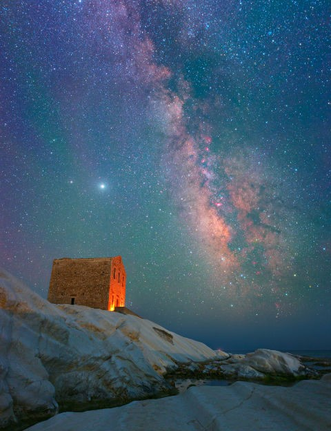 The Milky Way over Sicily Dario Giannobile, Punta Bianca, Sicily, 27 June 2020 Equipment: Canon 6D DSLR, Sigma 20mm lens, Manfrotto tripod