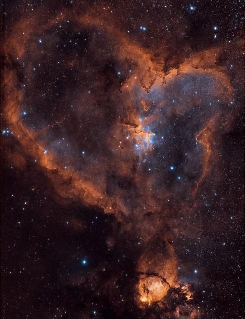 The Heart Nebula Derek Foster, Sheffield, 14 September 2020 Equipment: ZWO ASI 294MC Pro camera, TS-Optics Photoline 80mm f/6 triplet apo, Sky-Watcher HEQ5 Pro mount