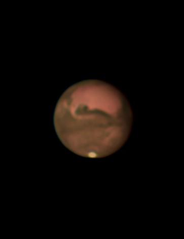 Mars Luke Oliver, Bedford, 26 September 2020 Equipment: ZWO AI 178MM camera, Sky-Watcher Skyliner 400P Dobsonian