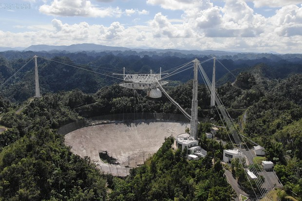 The world-famous Arecibo Observatory 305m radio telescope is to be decommissioned following safety concerns. Credit: University of Central Florida