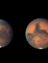 Mars before, during and after opposition Keith Johnson, Ferryhill, County Durham, 31 August– 30 October 2020. Equipment: ZWO ASI 290MM mono camera, Celestron 9.25-inch Schmidt-Cassegrain, Sky-Watcher EQ6 Pro mount