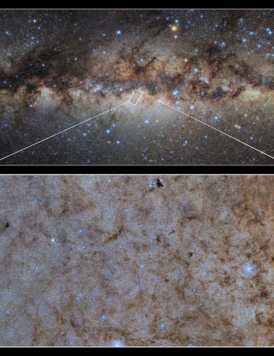 Close-up of the central bulge of our Milky Way VICTOR M BLANCO TELESCOPE, 27 OCTOBER 2020. Credit: CTIO/NOIRLab/DOE/NSF/AURA/STScI, W. Clarkson (UM-Dearborn), C. Johnson (STScI), and M. Rich (UCLA)/E.Slawik