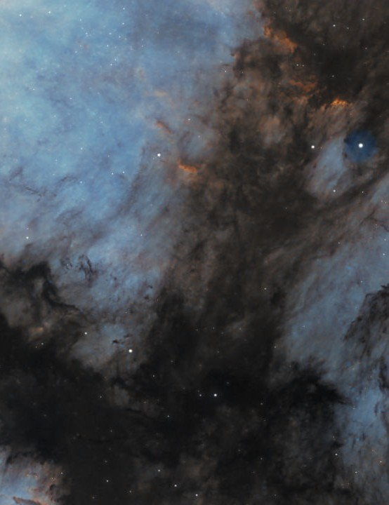 Pelican Nebula Dave Frost, Holloway, Derbyshire, July 2020. Equipment: ZWO ASI 183MM Pro camera, William Optics GT-81 apo triplet refractor, Sky-Watcher HEQ5 mount