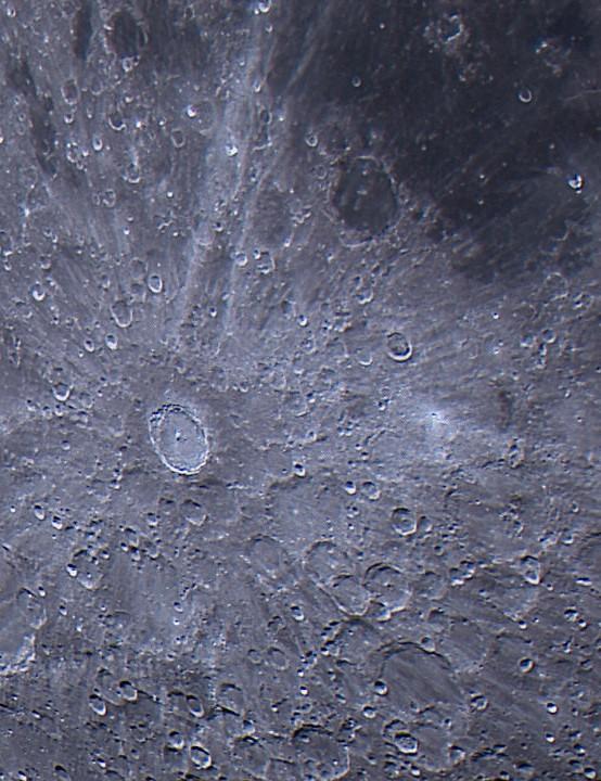 Tycho crater Steve Fox, Camberley, Surrey, 3 November 2020. Equipment: ZWO ASI 120MM mono camera, Celestron EdgeHD 9.25-inch Schmidt-Cassegrain,