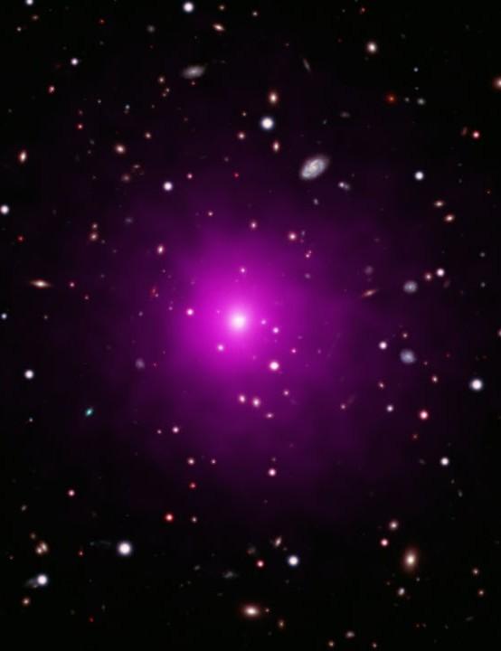 GALAXY CLUSTER ABELL 2261 CHANDRA X-RAY OBSERVATORY/HUBBLE SPACE TELESCOPE, 17 DECEMBER 2020 Credit: X-ray: NASA/CXC/Univ of Michigan/K. Gültekin; Optical: NASA/STScI and NAOJ/Subaru; Infrared: NSF/NOAO/KPNO
