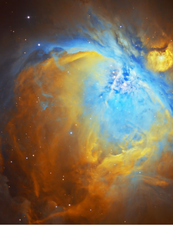 M42 The Orion Nebula Steve Komarek, Carlton, Nottingham, 11 and 22 November 2020. Equipment: Atik 490EX camera, Sky-Watcher Quattro-8CF Newtonian, Sky-Watcher EQ6-R Pro mount