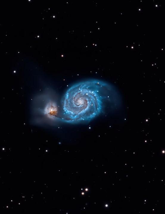 M51 The Whirlpool Galaxy Andy McGregor, Inverarnie, Inverness, April 2020 Equipment: Fuji X-T3 mirrorless camera, William Optics Zenithstar 103 apo refractor, Sky-Watcher HEQ5 mount