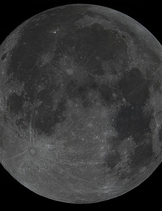 The Moon DamianMartin, Coalville, Leicestershire, 29 December 2020 Equipment: Altair GPCAM3 178C camera, Meade LX85 8-inch ACF and mount