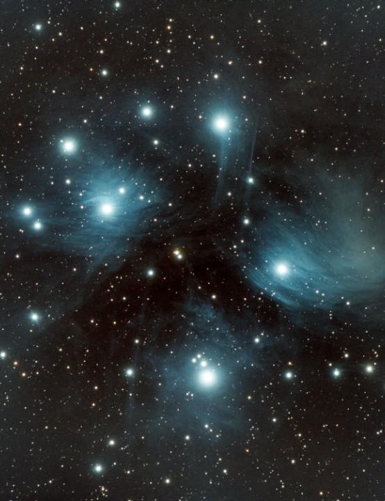 The Pleiades M45 Mike Read, Corsley, Wiltshire, 13December 2020 Equipment: ZWO ASI 533MC camera, Sky-Watcher Esprit 100ED apo triplet refractor, Sky-Watcher EQ6-R mount