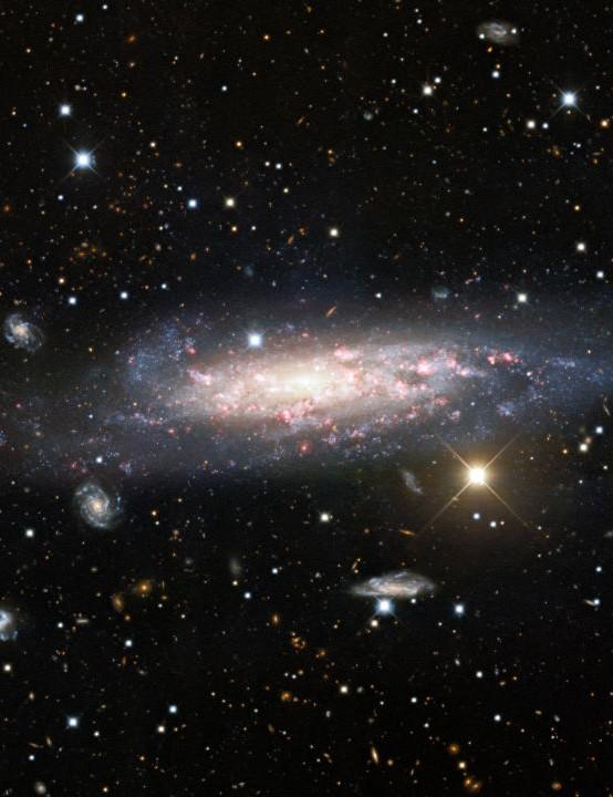 Long exposure of spiral galaxy NGC 1003 NICHOLAS U MAYALL 4-METRE TELESCOPE, KITT PEAK NATIONAL OBSERVATORY, 5 JANUARY 2021 CREDIT: KPNO/NOIRLab/NSF/AURA