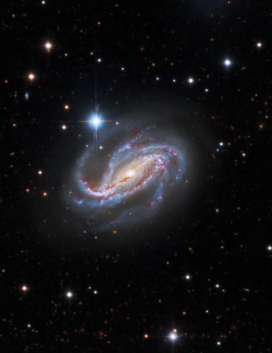 NGC 613 Warren Keller and Mike Selby, remotely via Obstech, El Sauce, Chile, 19–22 September 2020. Equipment: FLI Proline PL16803 mono CCD camera, Officina Stellare RiDK 500 and 700 astrographs, Officina Stellare Polar Fork and Planewave L-600 mounts