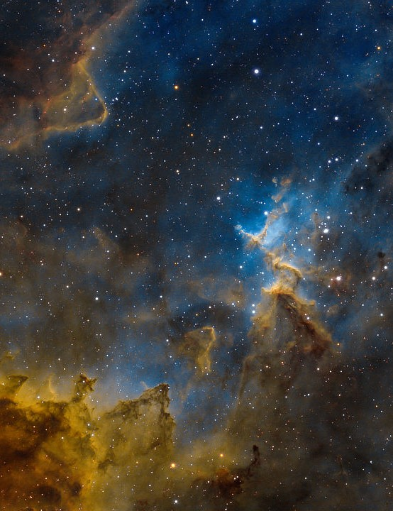 Core of the Heart Nebula Emanuele Bergamaschi, Lierskogen, Norway, 14–16 January 2021. Equipment: ZWO ASI 294mm Pro camera, Sky-Watcher Evostar 100ED Pro apo refractor, Sky-Watcher EQ6R Pro mount