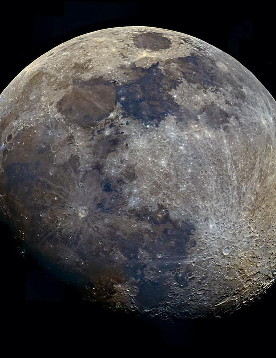 Mineral Moon Sona Shahani Shukla, New Delhi, India, 23 February 2021. Equipment: ZWO ASI 178MC colour camera, 8