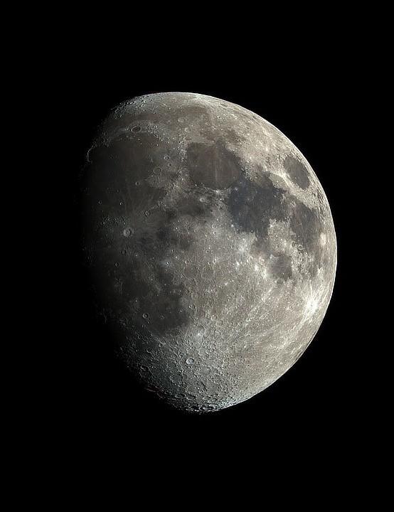Waxing Moon Mike Read, Corsley, Wiltshire, 22 February 2021 Equipment: ZWO ASI 2600MC Pro camera, Sky-Watcher 100ED Esprit apo refractor, Sky-Watcher EQ6R Pro mount