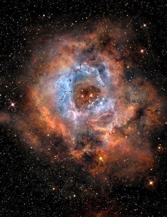 The Rosette Nebula Stephen Heliczer, London, 27 February 2021 Equipment: ZWO ASI 294MC Pro colour camera, Radian Raptor 61 apo refractor, SkyGuider Pro tracking mount, Radian tripod