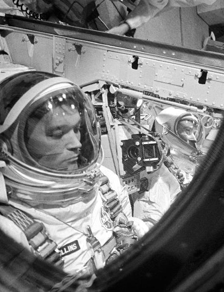 Collins during training for the Gemini 10 mission, 1966. Credit: NASA