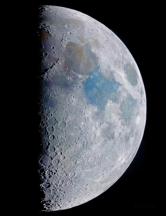 Moon Rich Addis, Wallasey, Merseyside, 21 March 2021. Equipment: ZWO ASI 120MC colour camera, Celestron NexStar 6SE Schmidt-Cassegrain