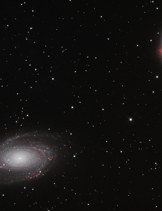 Bode's Galaxy and the Cigar Galaxy Craig Ogier, Minehead, Somerset, 16 and 17 March 2021. Equipment: ZWO ASI 1600MC camera, Sky-Watcher Explorer 200P reflector, Sky-Watcher EQ6R-Pro mount