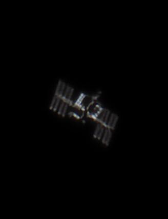 ISS close-up Gabor Sagi, Witney, Oxfordshire, 29 September 2020. Equipment: ZWO ASI 224MC colour camera, Sky-Watcher Skymax-127 Maksutov-Cassegrain, Sky-Watcher AZ-GTi mount