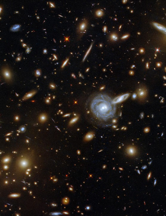 Galaxy cluster Abell S0295 HUBBLE SPACE TELESCOPE, 17 MAY 2021 CREDIT: ESA/Hubble & NASA, F. Pacaud, D. Coe