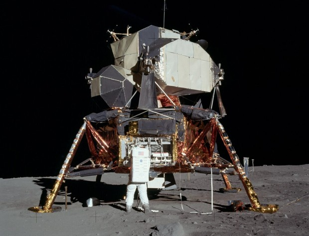 The Apollo 11 lunar module that descended to the surface of the Moon. Credit: NASA