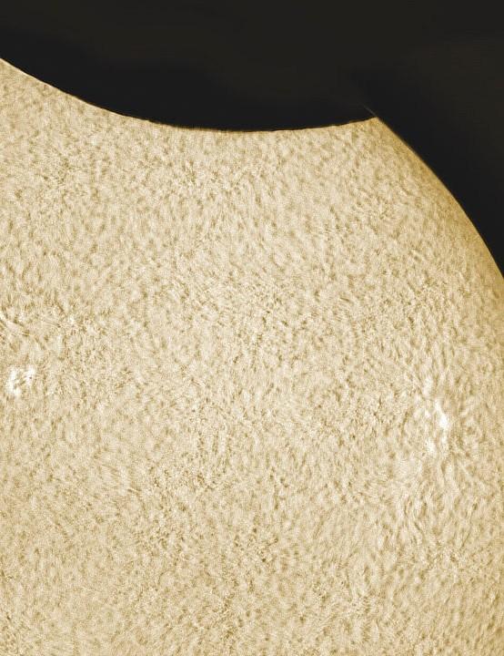 Eclipse and prominences James Robertson, London Equipment: ZWO ASI178 mono camera, Lunt LS60THa H-Alpha solar telescope, Sky-Watcher SolarQuest mount