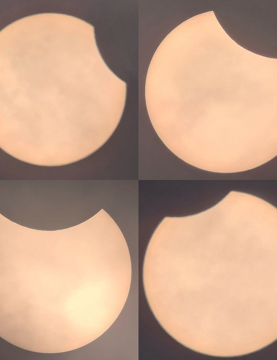 Eclipse sequence Peter Lewis, Sutton, London Equipment: Samsung S20 mobile phone, Orion SkyQuest XT8 Dobsonian, Orion Solar filter