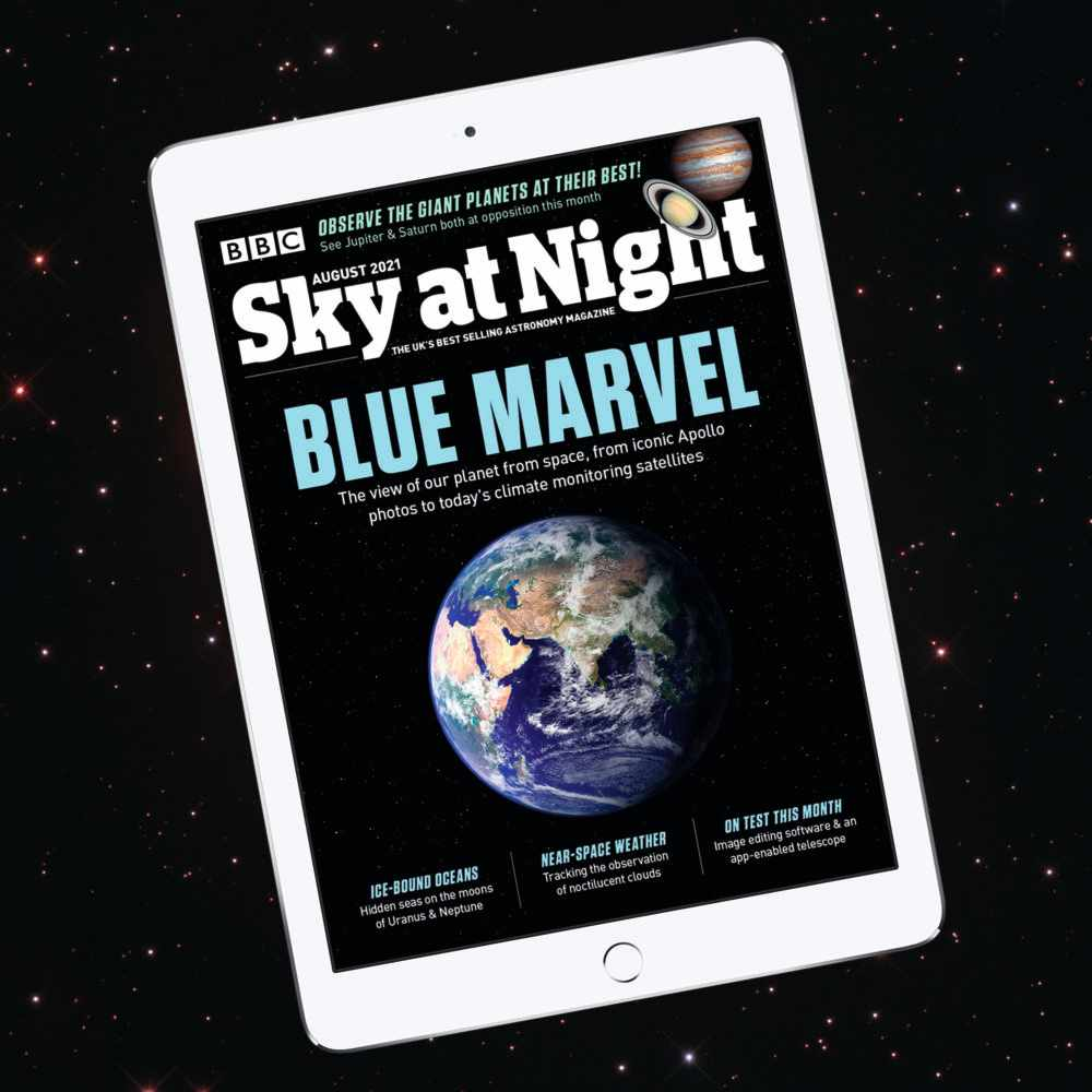 BBC Sky at Night Magazine August 2021 issue social media