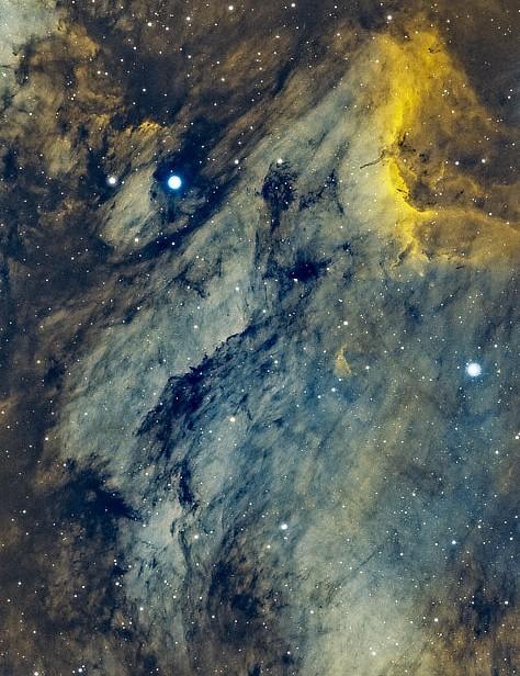 The Pelican Nebula, Ian Phillips, Weston-super-Mare, 12 June 2021. Equipment: ZWO ASI2600MC Pro camera, Sky-Watcher Esprit 120ED refractor, Sky-Watcher EQ6 Pro mount