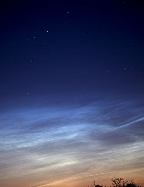 Noctilucent clouds, Hannah Rochford, Gower, Swansea, 4 June 2021. Equipment: Canon 5D MkII DSLR, Sigma 150–600mm lens