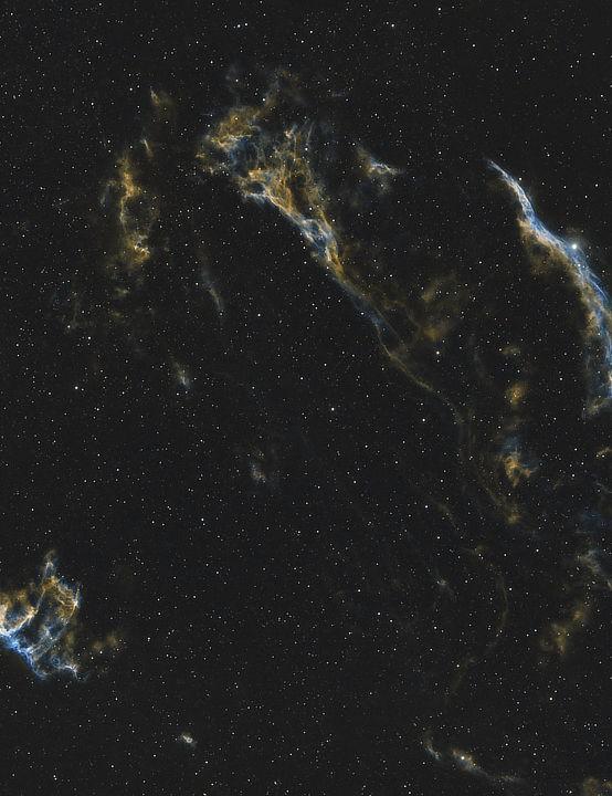 The Veil Nebulae, Matthew Clough, Selby, North Yorkshire, 23 June 2021. Equipment: ZWO ASI 294MC Pro camera, William Optics RedCat 51 refractor, Sky-Watcher HEQ5 Pro mount