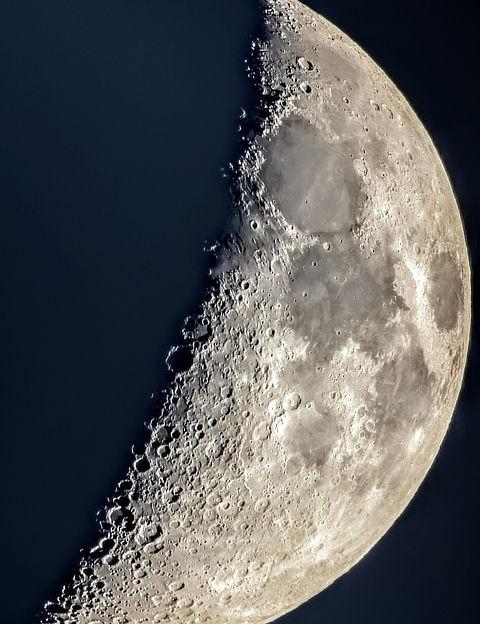 The Moon, Sonia Turkington, North Reddish, Stockport, 18 May 2021. Equipment: Google Pixel 4 smartphone, Sky-Watcher 10-inch Skyliner 250PX Dobsonian
