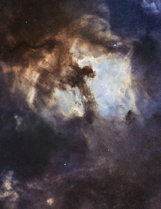 The North America Nebula, Callum Wingrove, Hallsands, Devon, 25 May 2021. Equipment: ZWO ASI294MC Pro camera, Samyang 135mm f/4 lens, iOptron SkyGuider Pro mount