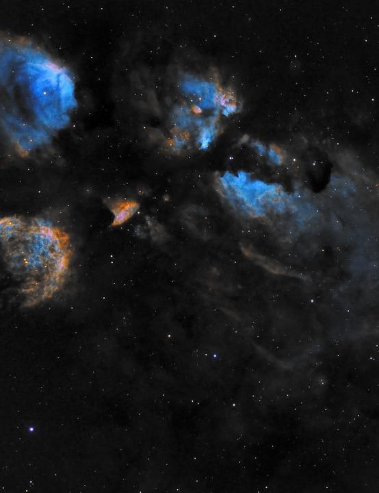 The Cat's Paw Nebula, Prabhu, Mleiha, United Arab Emirates, 5 June 2021. Equipment: ZWO ASI1600MM Pro camera, GSO 8-inch Ritchey-Chretien astrograph, Sky-Watcher EQ6 mount