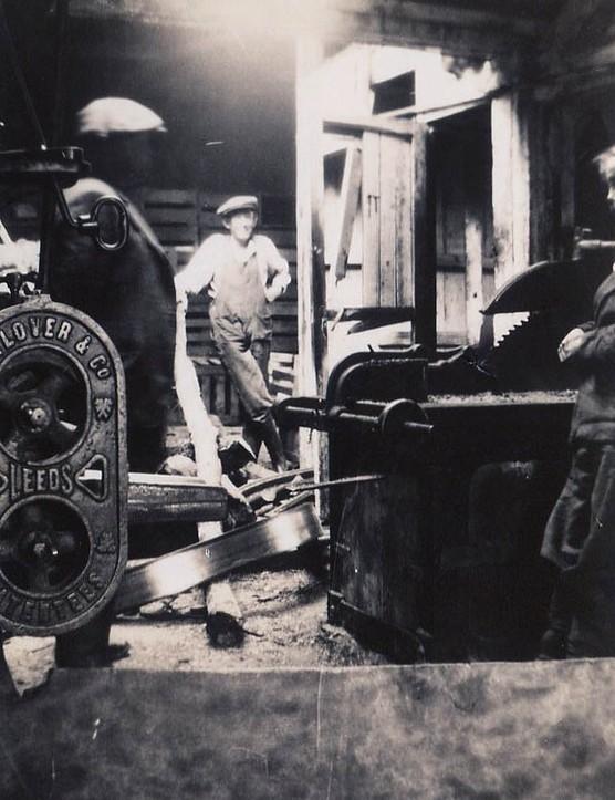 Inside a timber merchant's yard