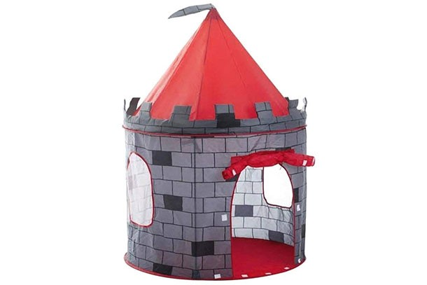 deAO Red Castle Quick Assemble Play Tent for Kids