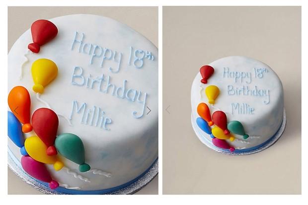 Gluten Free Personalised Balloon Cake GBP20