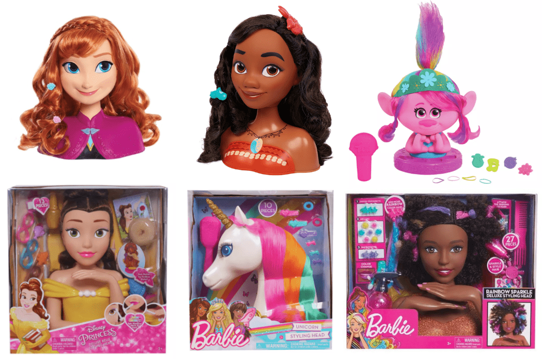 Dolls Hair Styling Head With Accessories Kids Girls Hairstyling Doll Toy CA