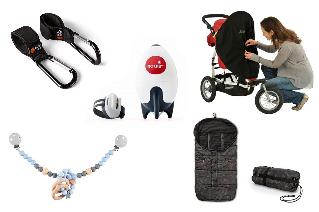 1 Pair Buggy Clip Pram Pushchair Stroller Side Hook Baby Handle HandBag Holder