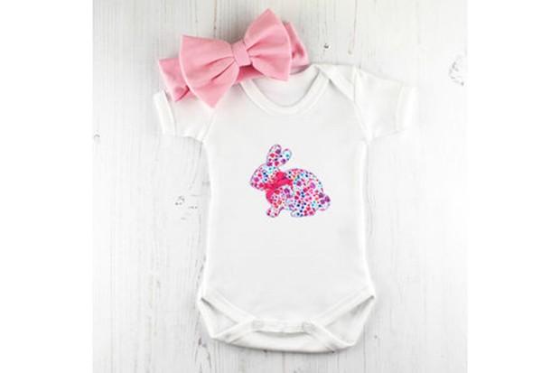 bunny baby grow gift set