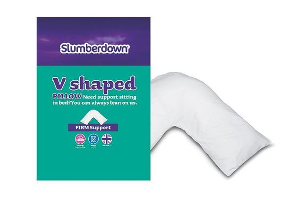 slumberdown-v-shaped-pillow