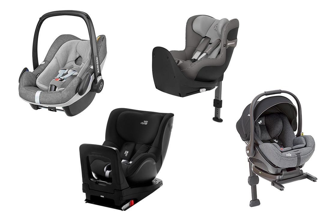0-36kg migo ONE 360/° swivel car seat group 0+//1//2//3 Comfort cover Side protection - Back to the road 0-18kg Grey