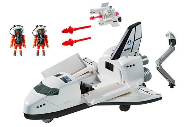 playmobil city action space shuttle