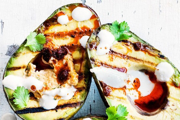 olive grilled avocado recipe