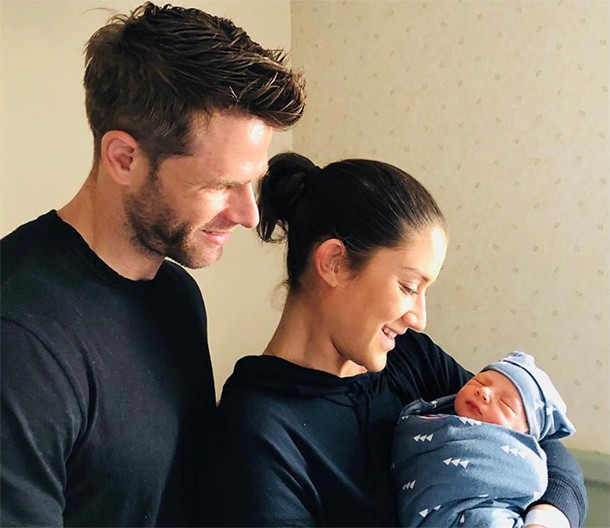 katie waissell gives birth