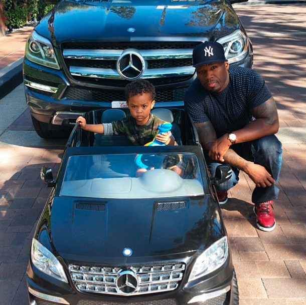 50-cent-buys-son-a-mini-mercedes-for-his-birthday_60400