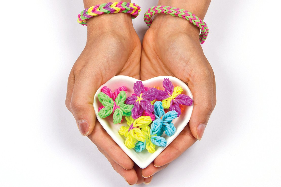 Loom bands how-to: 3D butterflies, flowers and notebook loop