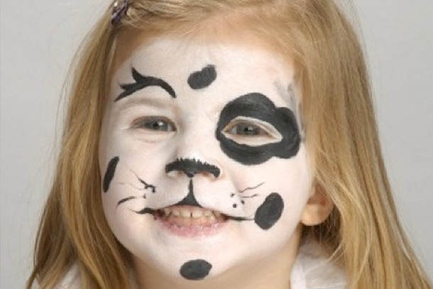 Face Paint Dalmatian Step By Step Madeformums